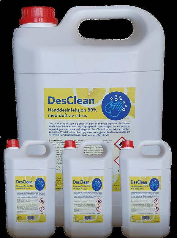 Bilde av 3 kanner DesClean Hånd 80% Sitrus 🍋 12 liter